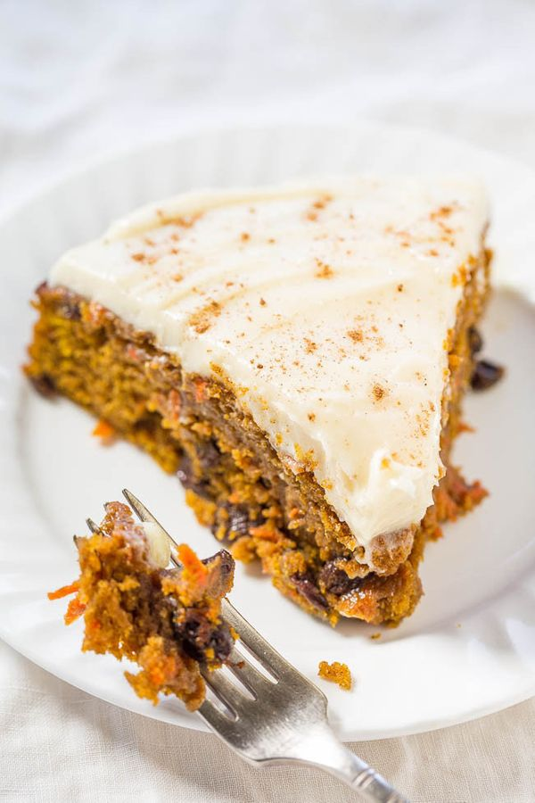 """<strong>Get the <a href=""""http://www.averiecooks.com/2015/10/the-best-pumpkin-carrot-cake-with-cream-cheese-frosting.html"""">Pum"""