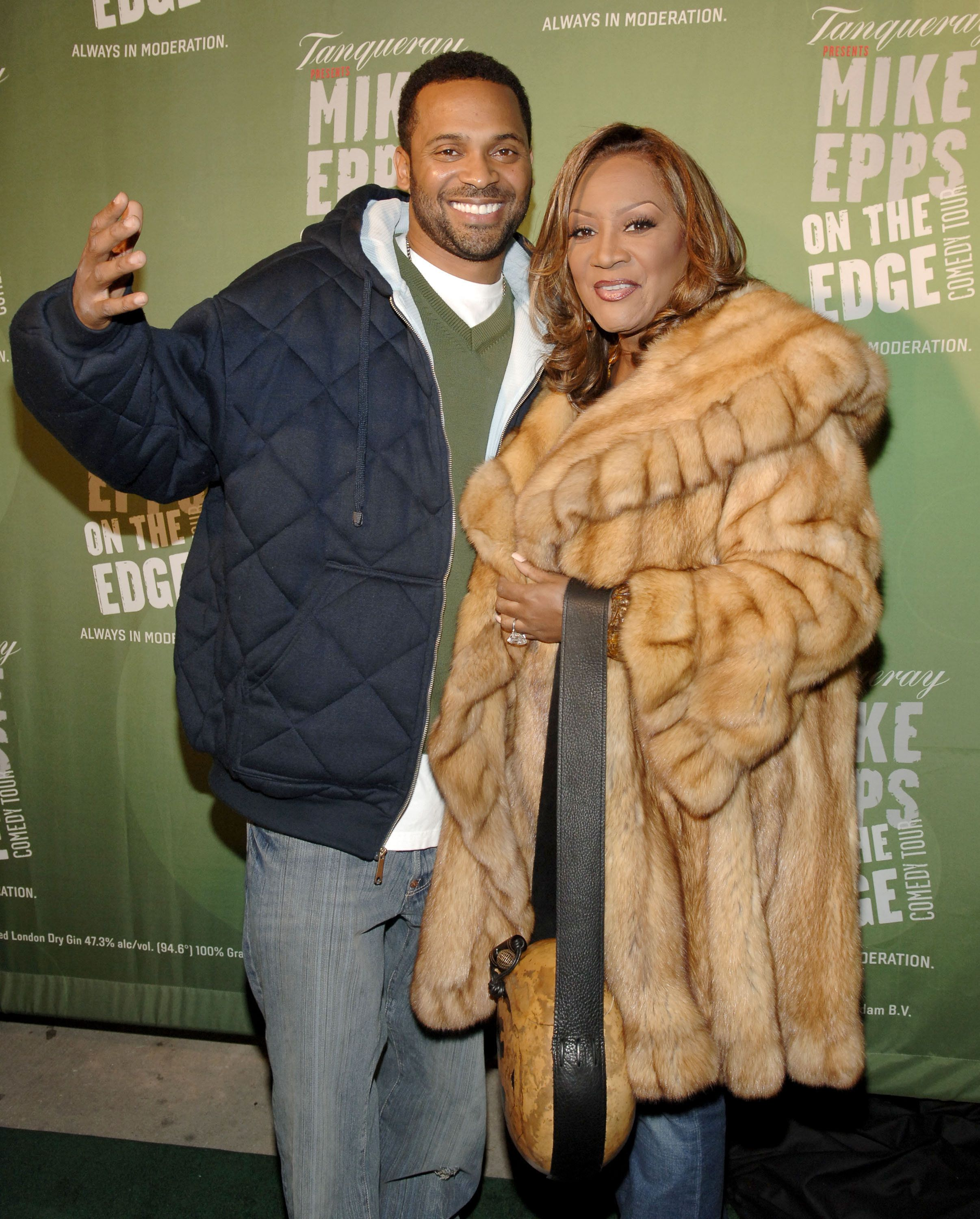 Mike Epps and Patti LaBelle during Tanqueray Presents 'Mike Epps: On the Edge' Comedy Tour Kick-Off Party at The Newspace in New York City, New York, United States. (Photo by Jemal Countess/WireImage)