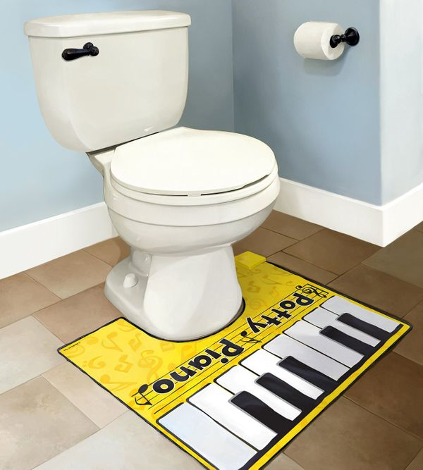 "Singing in the shower? Bah! Playing piano on the potty? Now that's special. Learn to play ""Jingle Bells"" on this <a href=""htt"