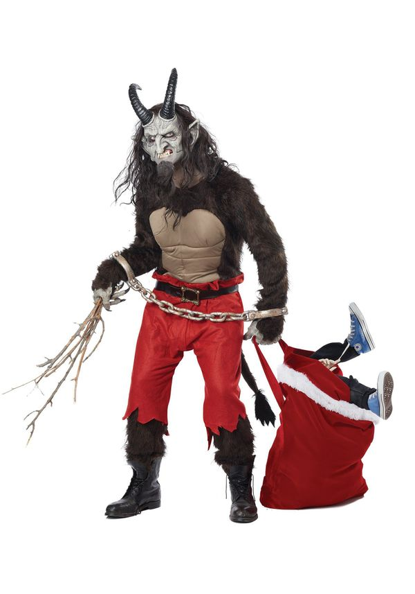 "Santa Claus has a better press agent, but the <a href=""http://www.halloweencostumes.com/adult-krampus-the-christmas-demon-cos"