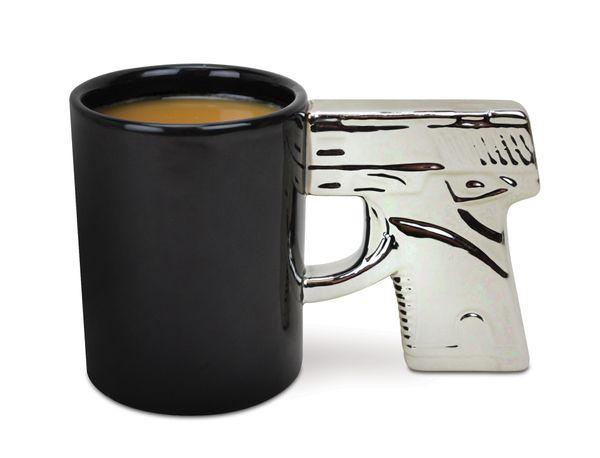 "Here's the deal: This <a href=""http://www.stupid.com/the-gun-mug-chrome-handle.html"" target=""_blank"">gun-themed coffee mug </"