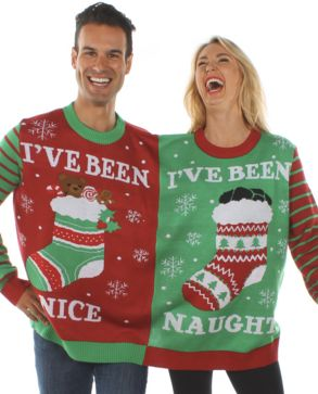 "Couples looking for a way to share their holiday spirit could do worse than this <a href=""http://www.tipsyelves.com/two-perso"