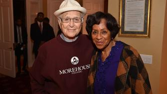 ATLANTA, GA - NOVEMBER 30:  Norman Lear and Marla Gibbs attend an intimate gathering in honor of Norman Lear at Morehouse College on November 30, 2015 in Atlanta, Georgia.  (Photo by Paras Griffin/WireImage)