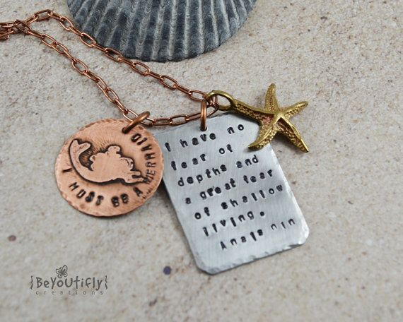 "Get the <a href=""https://www.etsy.com/listing/202538058/i-must-be-a-mermaid-quote-necklace-hand?ga_order=most_relevant&amp;ga"