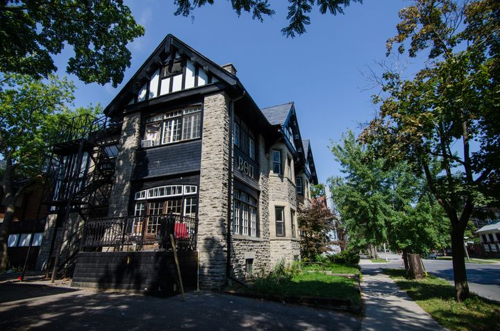 Pictured: A Beta Theta Pi fraternity house. Judson Horras, a Beta Theta Pi member, is the current interim president of the&nb