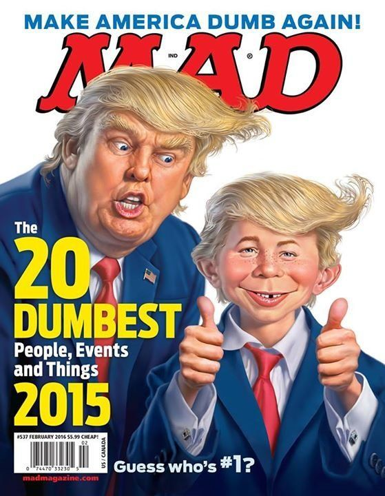 Donald Trump on the cover of Mad Magazine