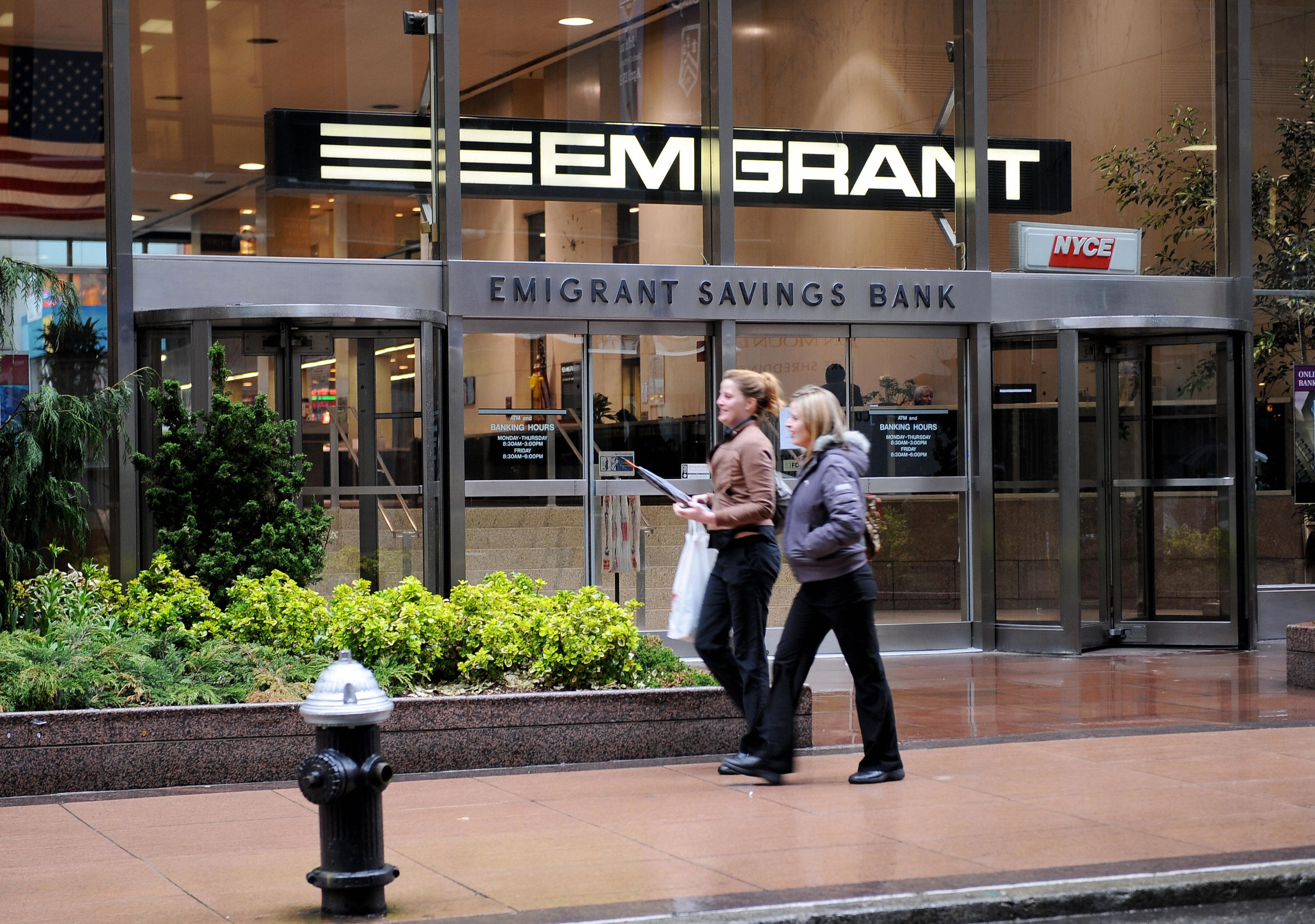 The Emigrant Savings Bank on East 43rd Street April 6, 2009 in New York.