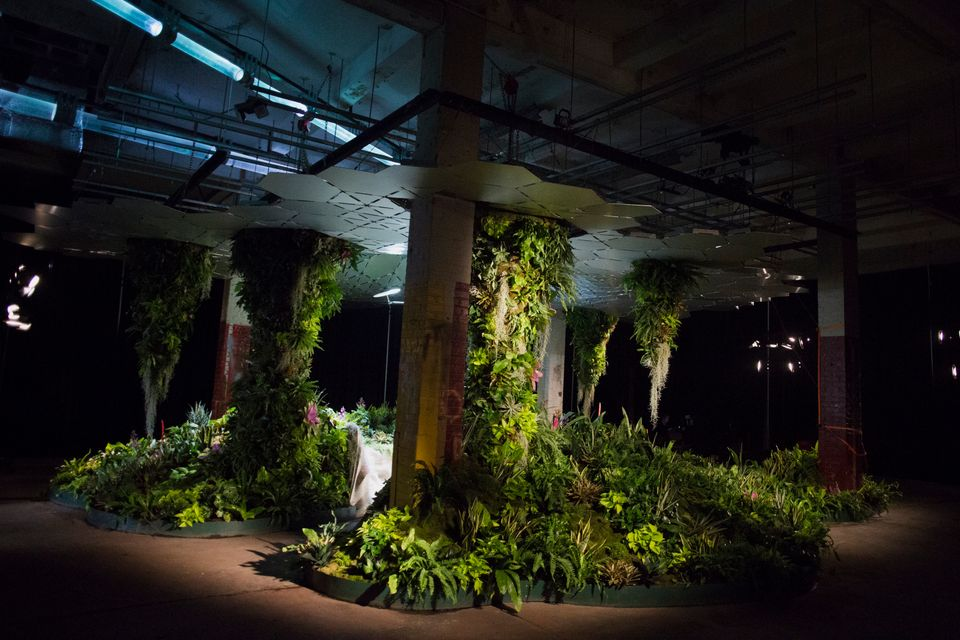 The Lowline Lab is seen in New York, U.S., on Monday, Oct. 12, 2015. An underground park in New York City's Lower East Side,