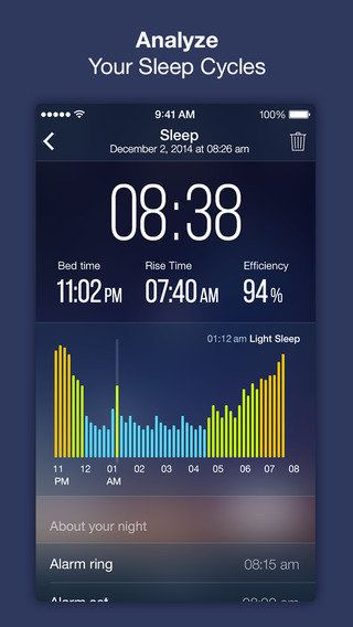 """This app is a robust sleep tracker with a """"Sleep Lab"""" function that can analyze your sleep over time and also int"""
