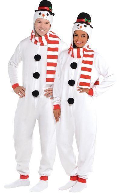 "Zipster Snowman One Piece Costume $29.99, <a href=""http://www.partycity.com/product/snowman+one+piece+pajamas.do?navSet=17267"