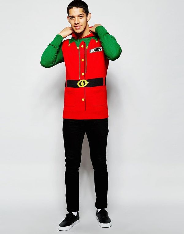 "Brave Soul Holidays Sweater Elf Suit $40 (originally $69.00), <a href=""http://www.asos.com/brave-soul/brave-soul-christmas-ju"