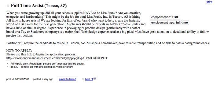 Holy S**t, Lisa Frank Is Hiring   HuffPost