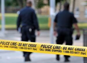 Access Background Banner Barrier Caution Crime Cro