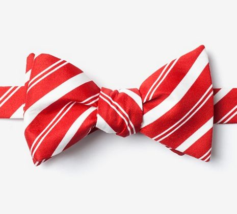 """Candy Cane Stripe Butterfly Bow Tie $20, <a href=""""http://www.ties.com/wild-ties-white-candy-cane-stripe-butterfly-bow-tie"""" ta"""