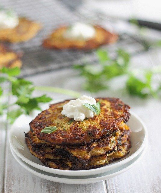 "<strong>Get the <a href=""http://www.runningtothekitchen.com/spicy-spaghetti-squash-latkes/"" target=""_blank"">Spaghetti Squash"