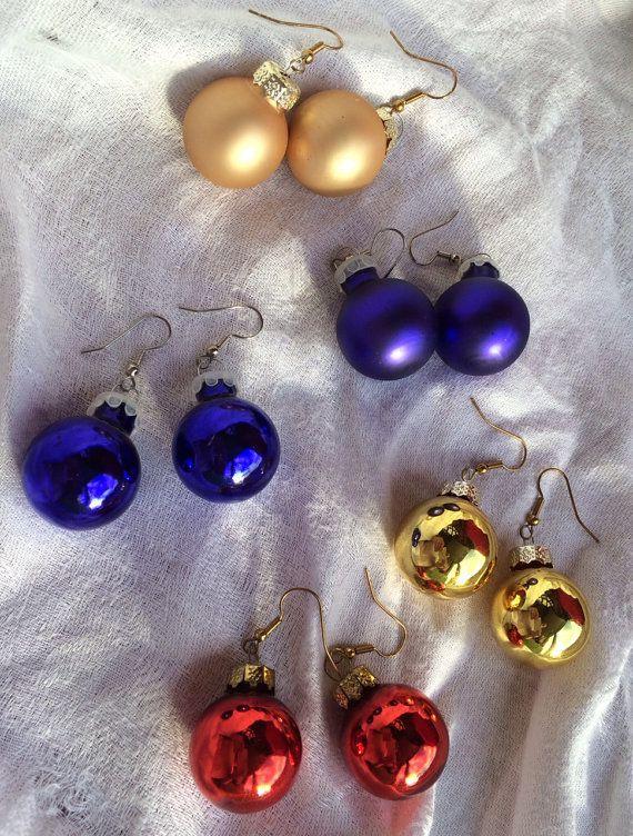 "Holiday Ornament Earrings $5, <a href=""https://www.etsy.com/listing/213917623/holiday-ornament-earrings?utm_source=google&amp"