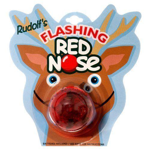 "Rudolf's Holiday Flashing Reindeer Nose&nbsp;$1.23, <a href=""http://www.amazon.com/Rudolfs-Holiday-FLASHING-REINDEER-NOSE/dp/"