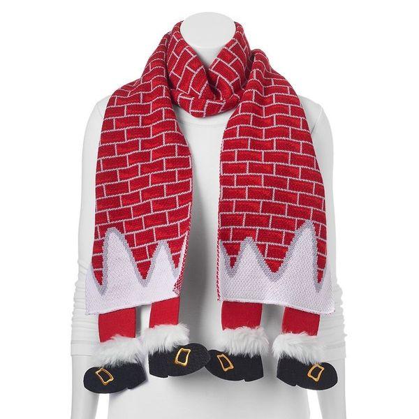 "Christmas Santa Feet Chimney Scarf $16 (originally&nbsp;$32), <a href=""http://www.kohls.com/product/prd-2235687/christmas-san"