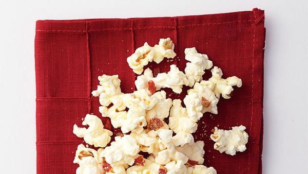 Pizza and popcorn may not be standard cocktail-party fare; but combined, they're an irresistible snack to enjoy with a glass
