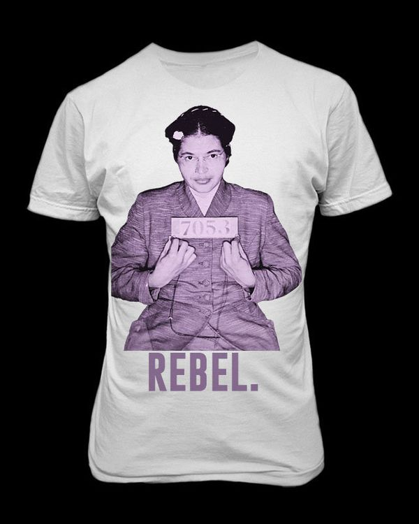 """<i>Buy it <a href=""""http://www.boldtee.com/?product=rosa-parks-rebel"""">here</a>.</i>"""