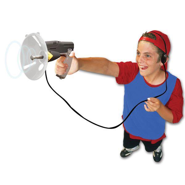 "<a href=""http://www.alexbrands.com/product/science-learning/bionic-ear/"">Scientific Explorer bionic ear listening device</a>,"