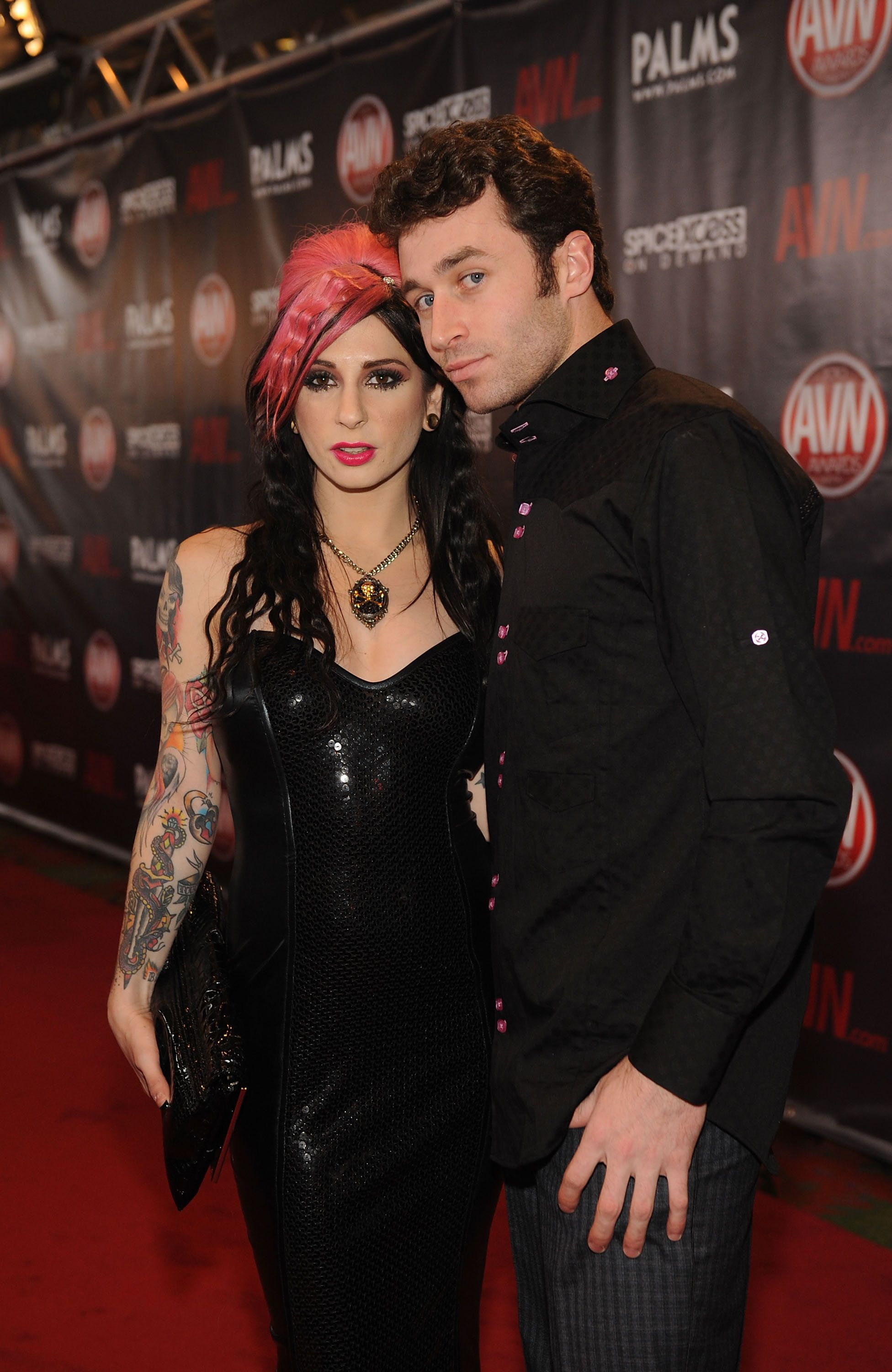 Joanna Angel and James Deen arrives at the 2010 AVN Awards at the Pearl at The Palms Casino Resort on January 9, 2010 in Las Vegas, Nevada. (Photo by Denise Truscello/WireImage)