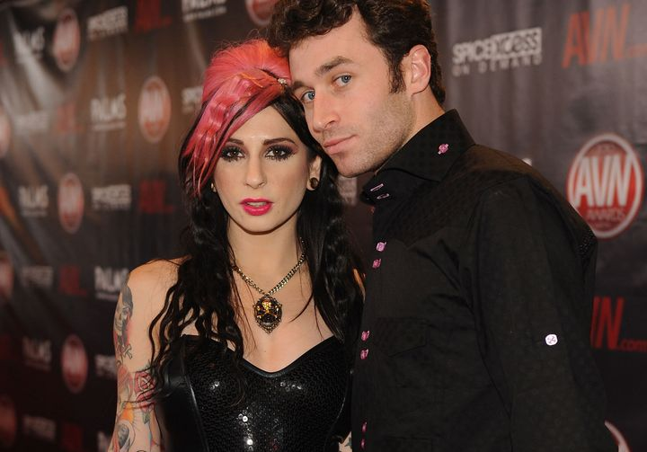 Joanna Angel and James Deen arrives at the 2010 AVN Awards in Las Vegas.