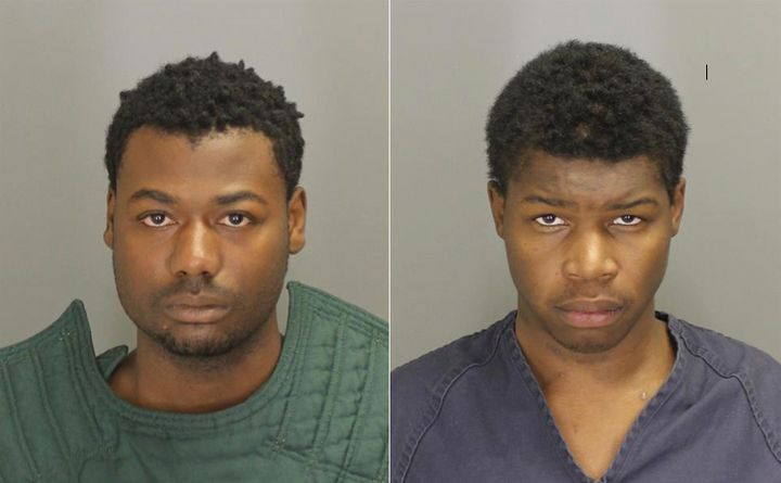 From left: Nikey Dashone Walker and Shadeed Dontae Bey, both 20, face felony charges for the assault onSunday.