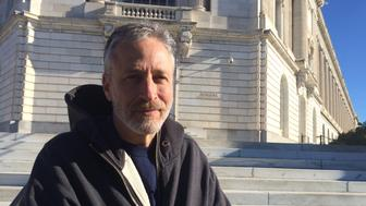 Jon Stewart visits Capitol Hill on Dec. 3 to advocate for Congress to pass a bill to help 9/11 responders.