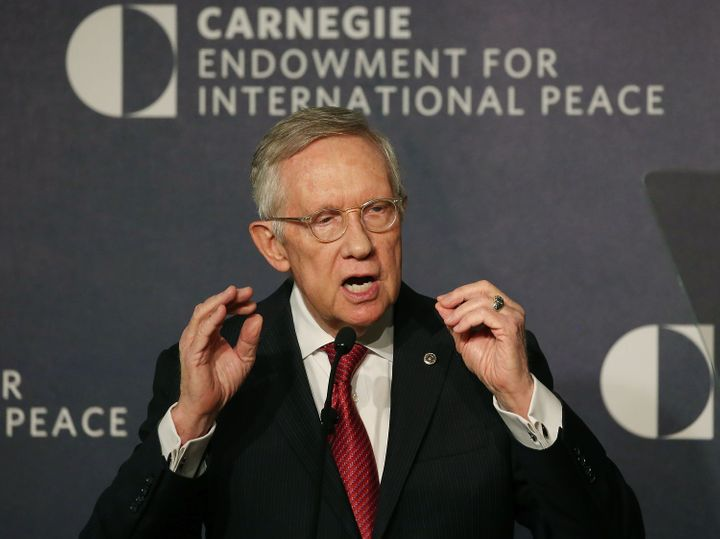 Senate Minority Leader Harry Reid (D-Nev.) called on his colleagues to stand up forgun control legislation.