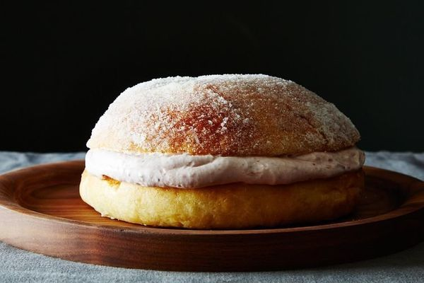 """<strong>Get the <a href=""""http://food52.com/recipes/32173-sufganiyot-jelly-donut-cake"""">Sufganiyot Cake recipe</a> from Sarah J"""