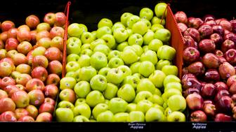 apples in a supermarket