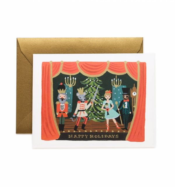 """$4.50 on <a href=""""https://riflepaperco.com/catalog/product/view/id/1349/s/nutcracker-scene-holiday-greeting-card/category/14/"""