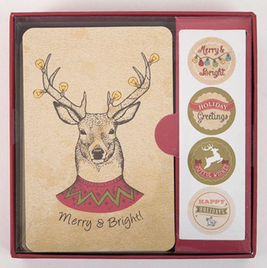 "$12 on <a href=""http://shop.barnstationery.com/reindeer-greeting-cards/"" target=""_blank"">Barn&nbsp;Stationery</a>"