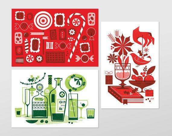 "$10 for 10 cards, on <a href=""https://www.etsy.com/listing/205554651/holiday-postcard-set?ref=shop_home_active_6"" target=""_bl"
