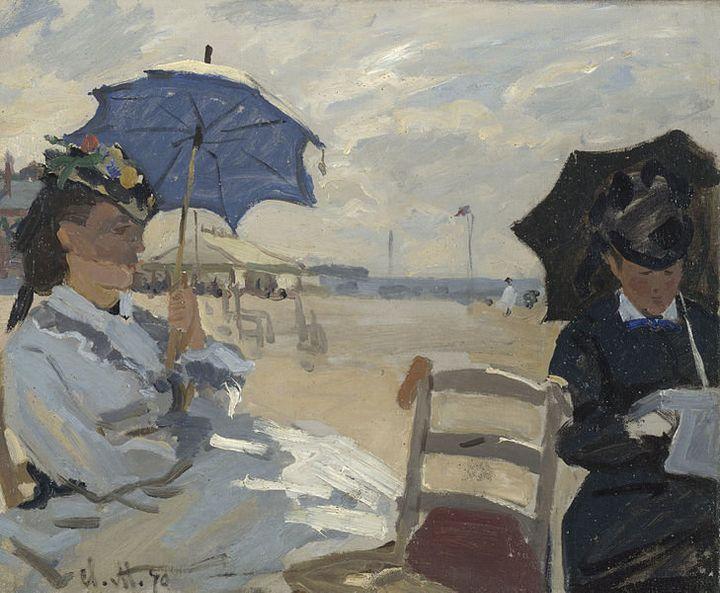 Claude Monet, Am Strand von Trouville, 1870
