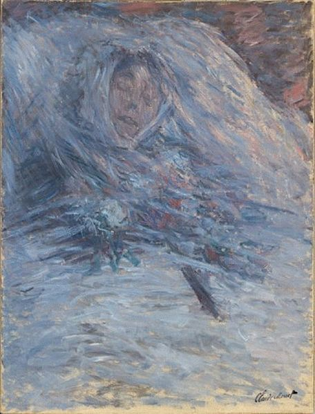 Claude Monet, Camille Monet on her deathbed, 1879