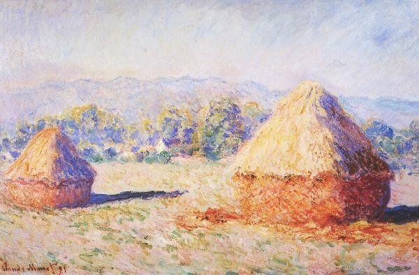 Claude Monet, Grainstacks in the Sunlight, Morning Effect, 1890