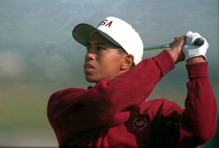Tiger Woods as a teenager atthe World Amateur Gold Cup in France on Oct. 8, 1984.