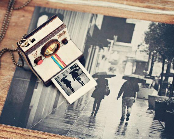 "Custom Polaroid Necklace Locket, $35.90 at <a href=""https://www.etsy.com/listing/124874304/polaroid-necklace-locket-custom?so"