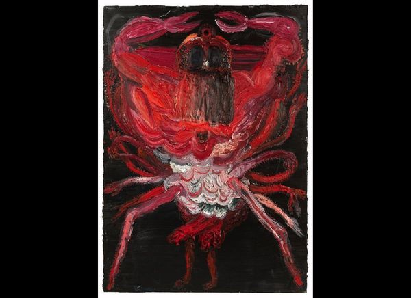 """""""Sebastian,"""" 96"""" x 68"""", oil on linen, 2012."""
