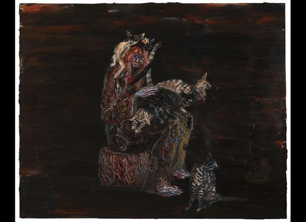 """""""Captain,"""" 68"""" x 84,"""" oil on linen, 2012."""