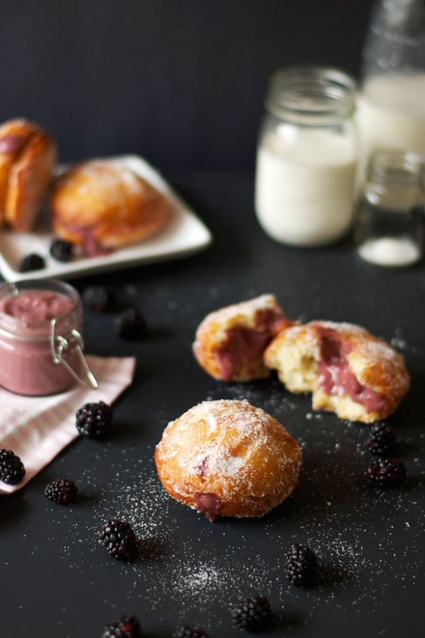 """<strong>Get the <a href=""""http://www.thebutterhalf.com/blackberry-curd-filled-homemade-donuts/"""">Blackberry Curd-Filled Donut r"""