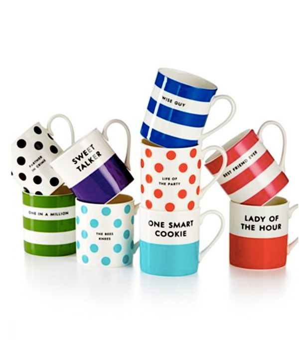 """Kate Spade New York Wit and Wisdom Mugs, $15 each at <a href=""""http://www1.macys.com/shop/product/kate-spade-new-york-wit-wisd"""