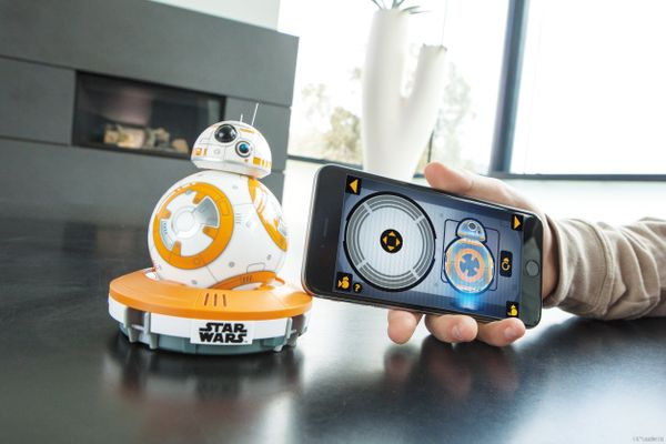 """<a href=""""http://store.sphero.com/products/bb-8-by-sphero"""">BB-8 the app-enabled Droid</a>, a robot withan adaptive perso"""