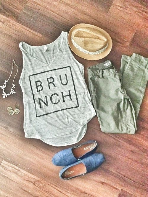 "Brunch Tank, $23 at <a href=""https://www.etsy.com/listing/221778183/brunch-tank?ga_order=most_relevant&ga_search_type=all"