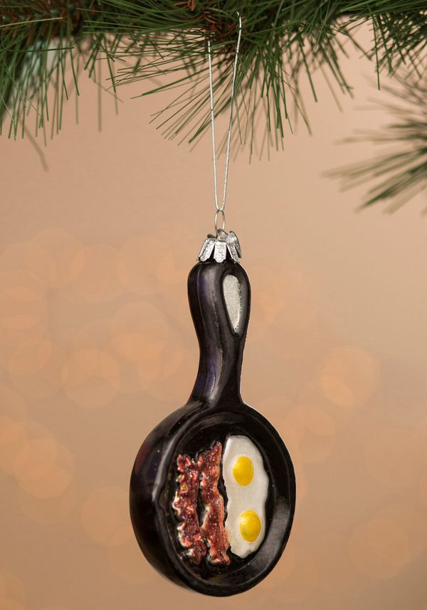 "Funny Side Up Ornament, $7.99 (originally $11.99) at <a href=""http://www.modcloth.com/shop/decorative-accessories/funny-side-"