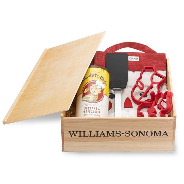 "Pancake Breakfast Gift Set, $69.95 at <a href=""http://www.williams-sonoma.com/products/pancake-breakfast-gift-set-15/?pkey=e%"