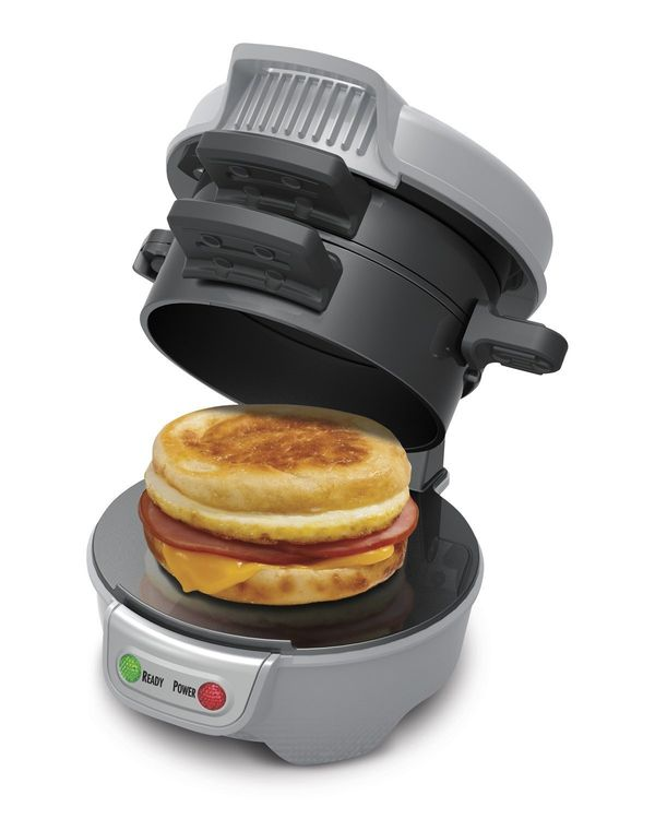 "Hamilton Beach Breakfast Sandwich Maker, $24 (originally $29.99) at <a href=""http://www.amazon.com/dp/B00EI7DPOO/?_encoding=U"