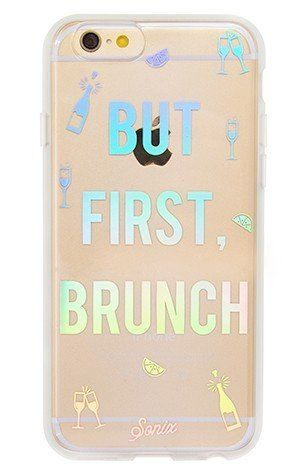"""But First, Brunch"" iPhone 6/6S Case, $39.99 at <a href=""http://www.shopsonix.com/index.php/but-first-brunch.html"" target=""_b"